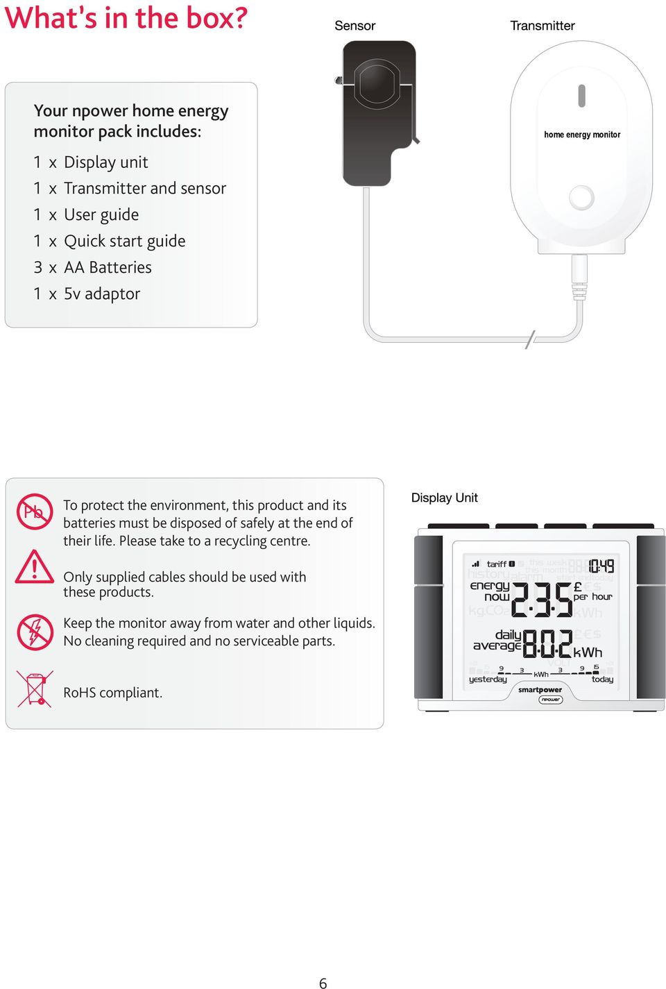 Your Npower Home Energy Monitor Pdf Wireless Sensor Battery Replacement Instructions For Safewatch Batteries 1 X 5v Adaptor 7 Installing