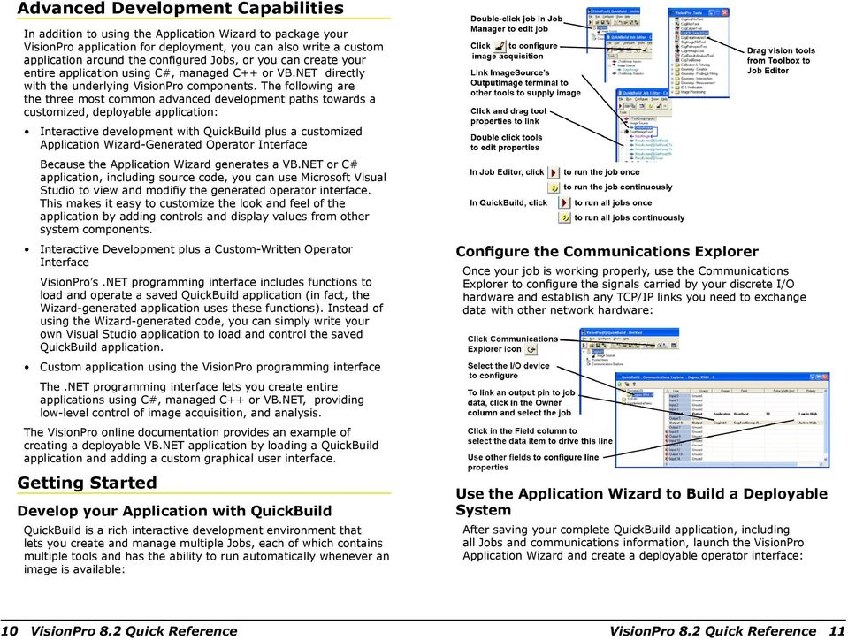The following are the three most common advanced development paths towards a customized, deployable application: Interactive development with QuickBuild plus a customized Application Wizard-Generated
