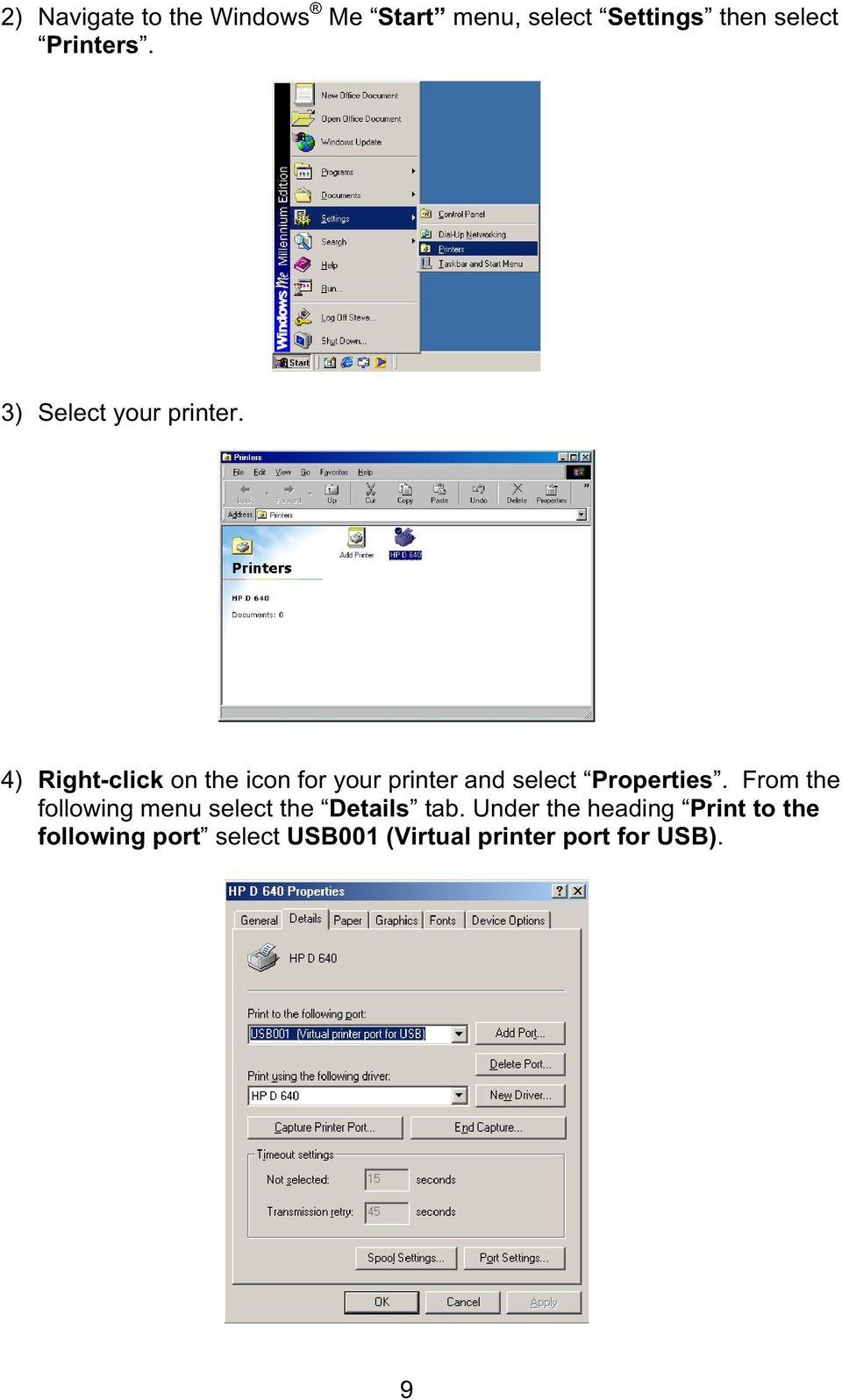 4) Right-click on the icon for your printer and select Properties.