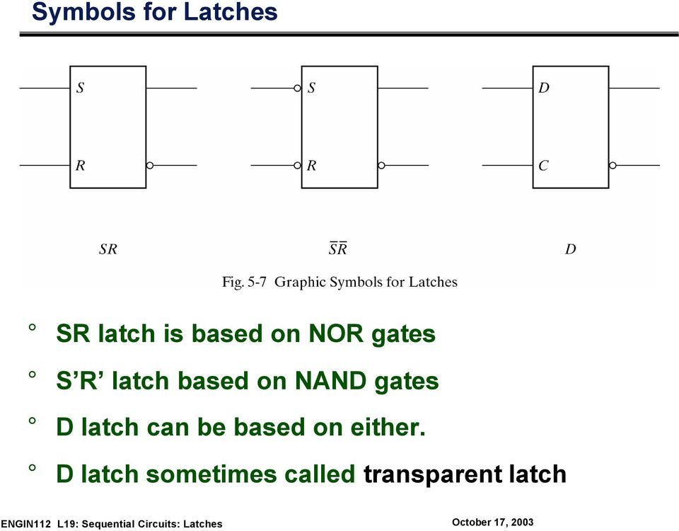 gates D latch can be based on either.