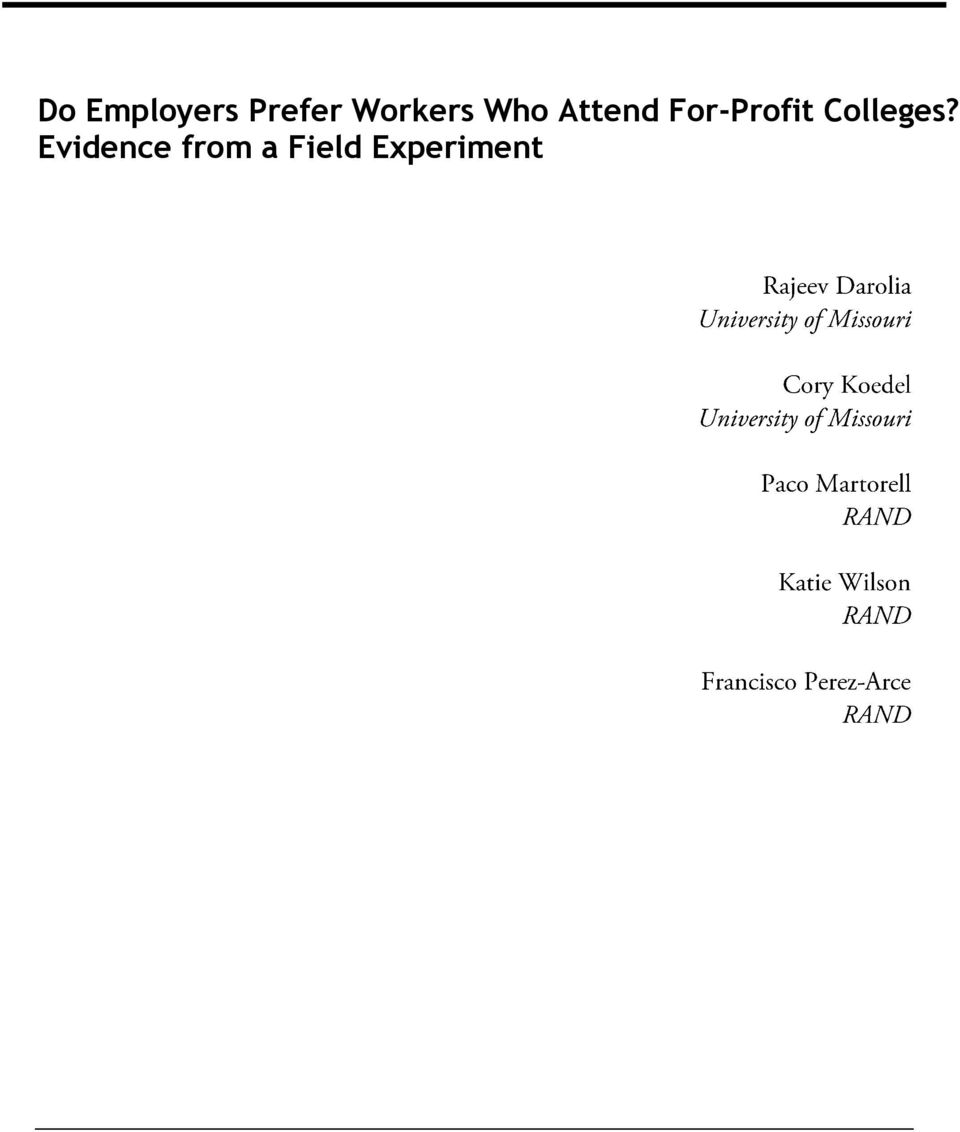 For-Profit Colleges?