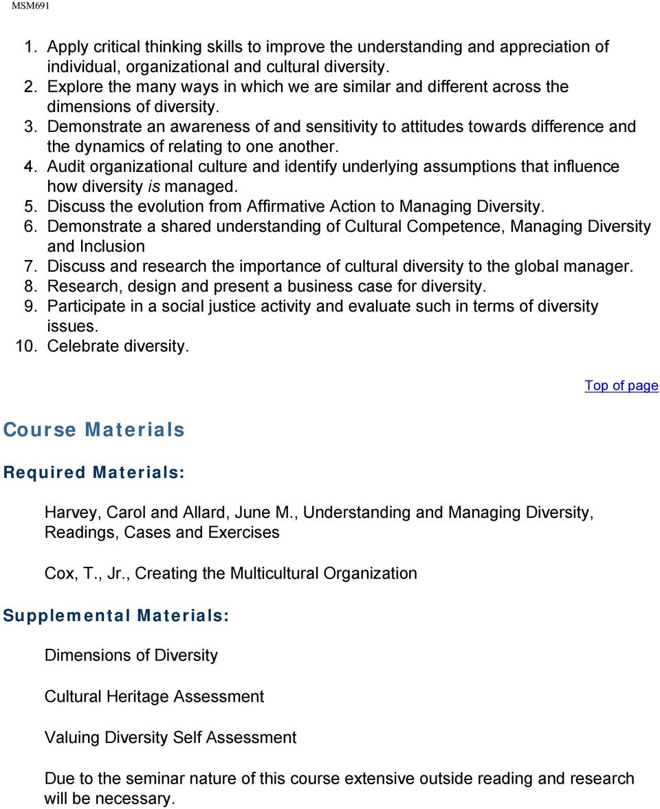 Managing Diversity toward a Globally Inclusive workplace .