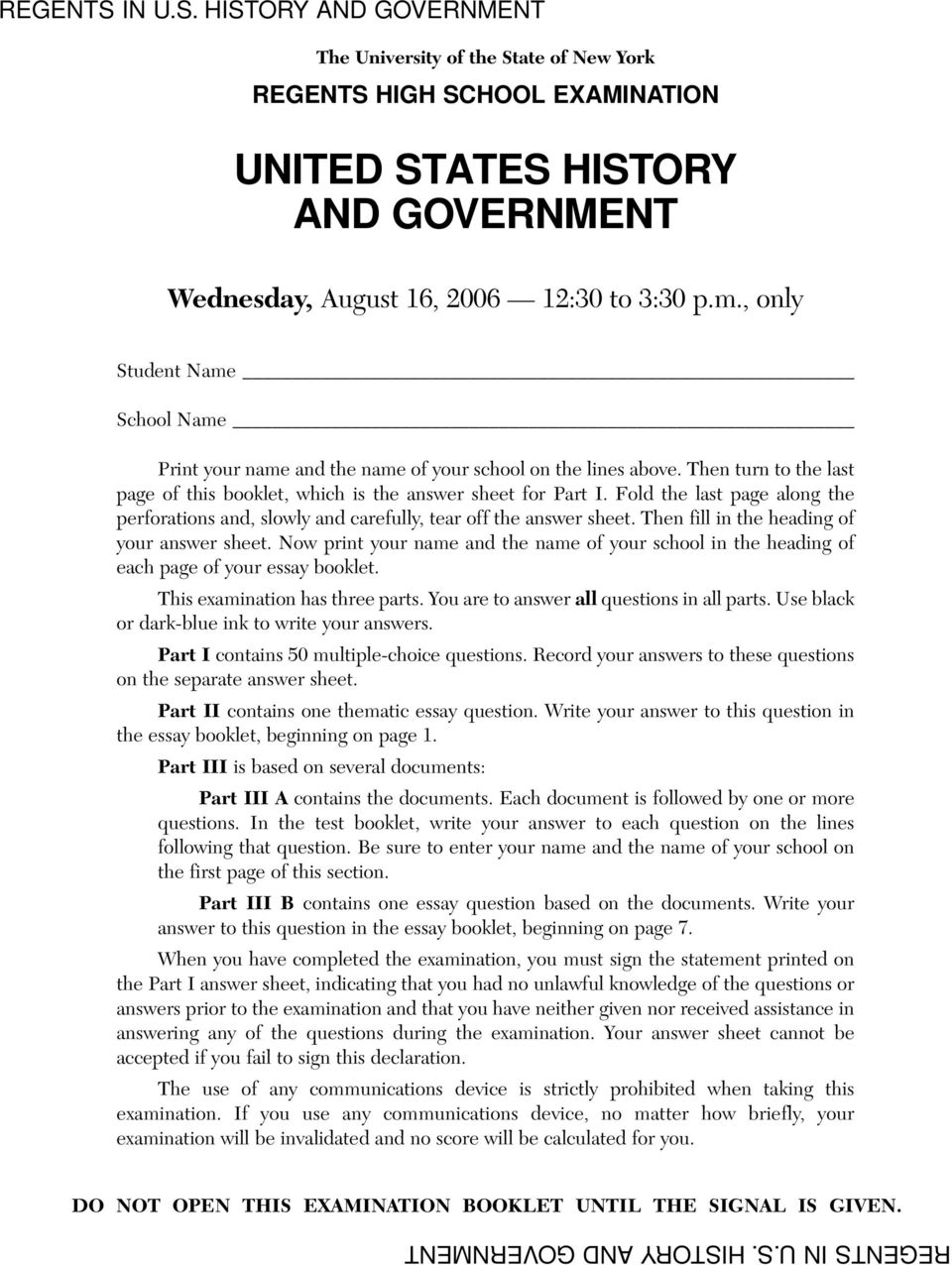 united states history and government pdf fold the last page along the perforations and slowly and carefully tear off the