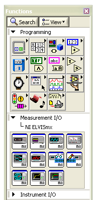 Figure 5.8. Location of NI ELVISmx Digital Reader Launch LabVIEW and then open Binary CounterMx.vi from the Hands-On-NI ELVIS II library folder.