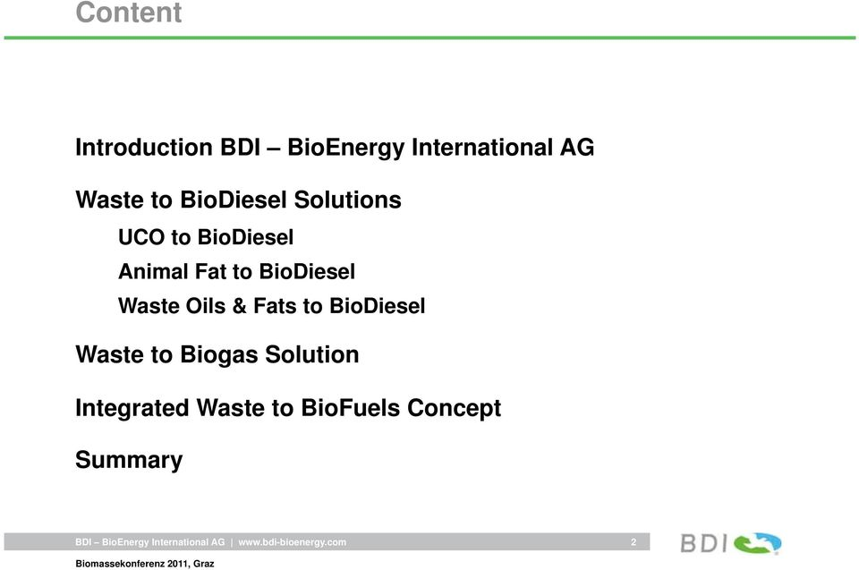 Fat to BioDiesel Waste Oils & Fats to BioDiesel Waste