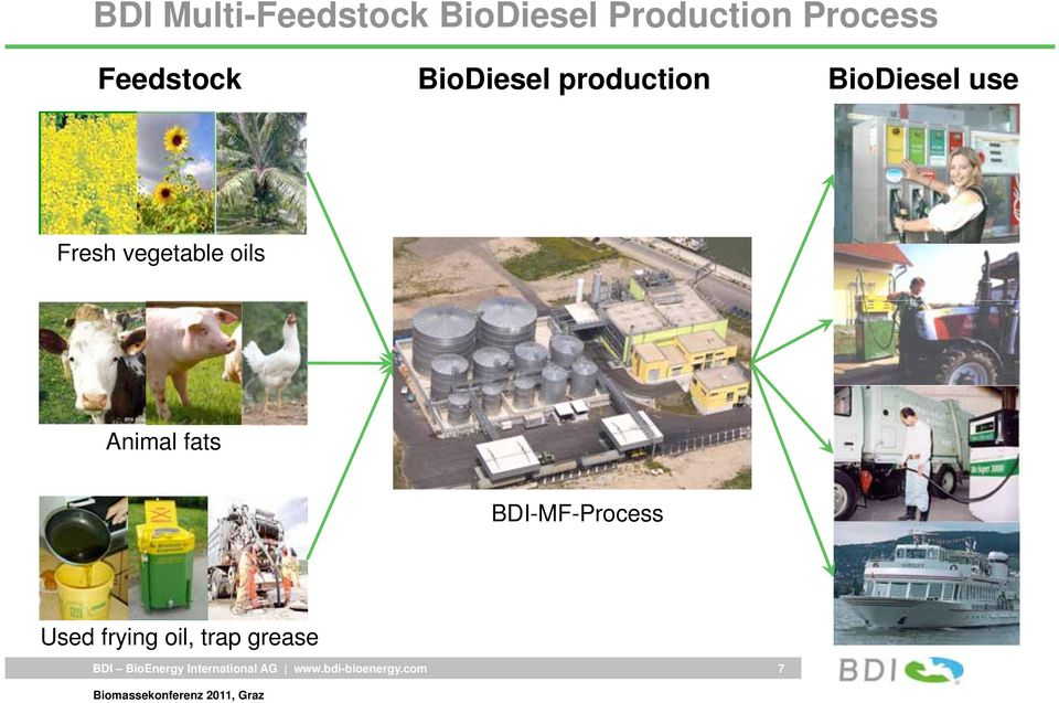 BioDiesel use Fresh vegetable oils Animal