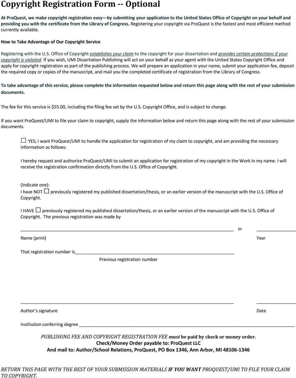 proquest dissertation and thesis order form
