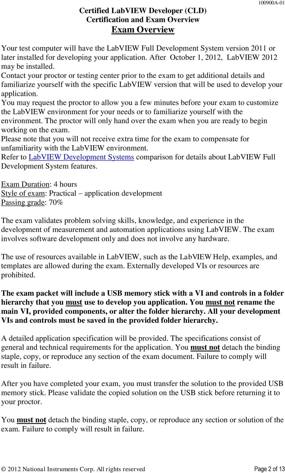 Certified Labview Developer Cld Certification And Exam Overview Pdf
