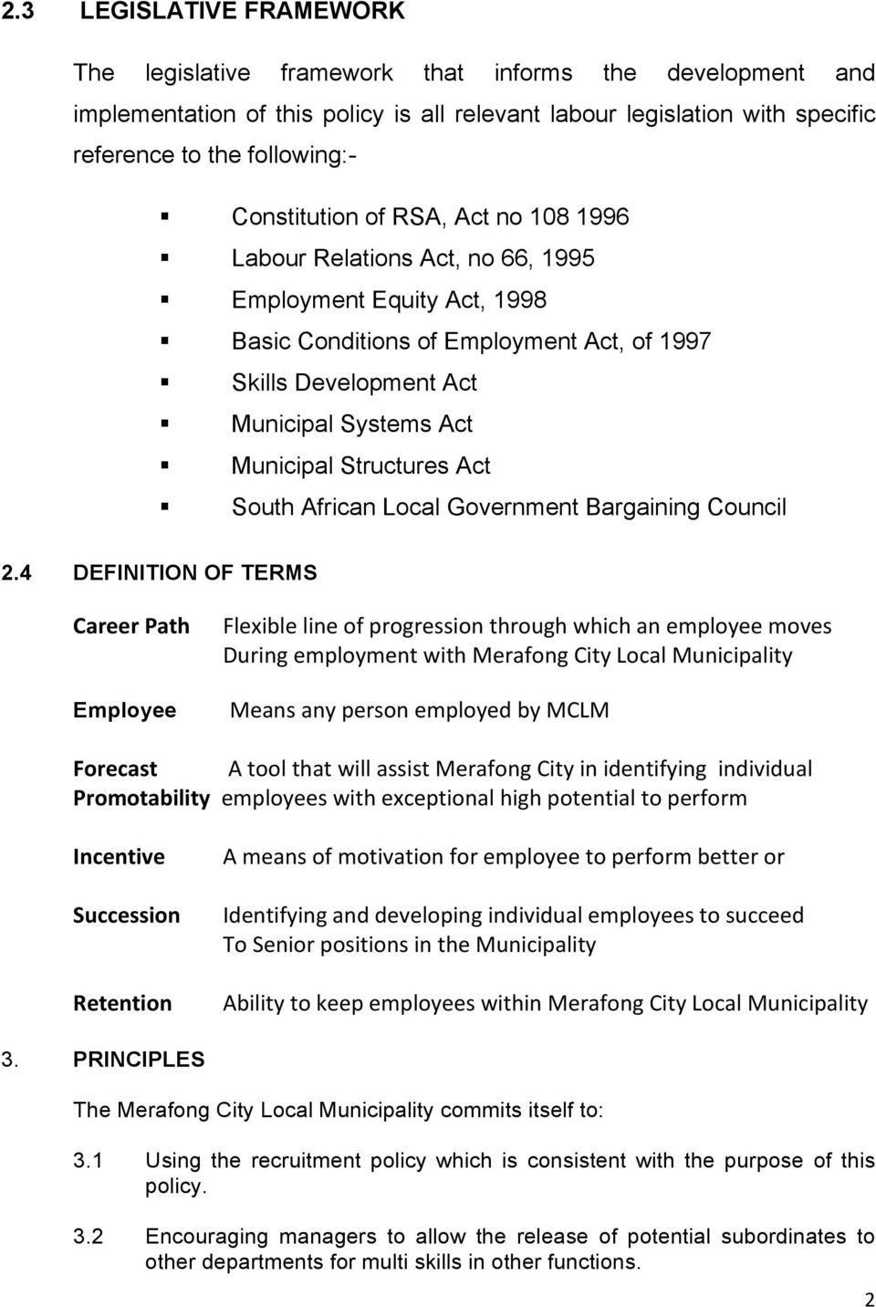Structures Act South African Local Government Bargaining Council 2.