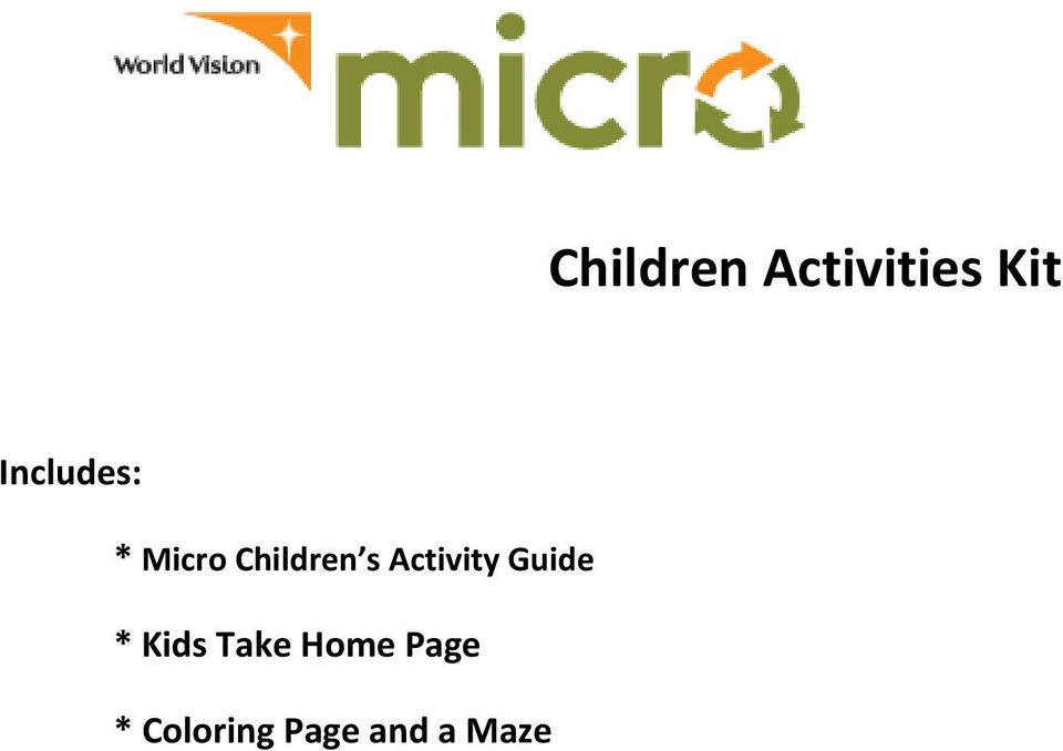 Activity Guide * Kids Take