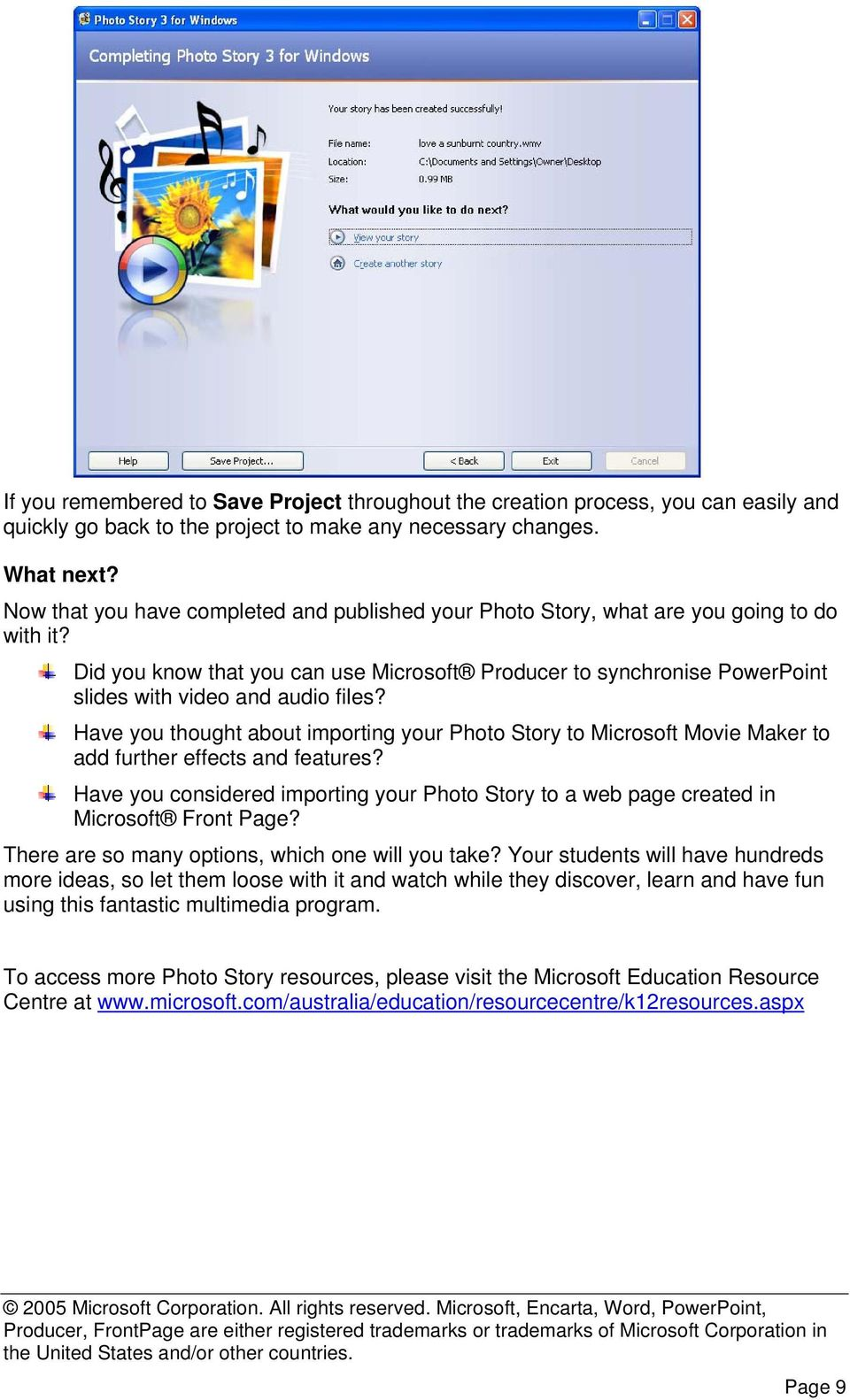 Did you know that you can use Microsoft Producer to synchronise PowerPoint slides with video and audio files?