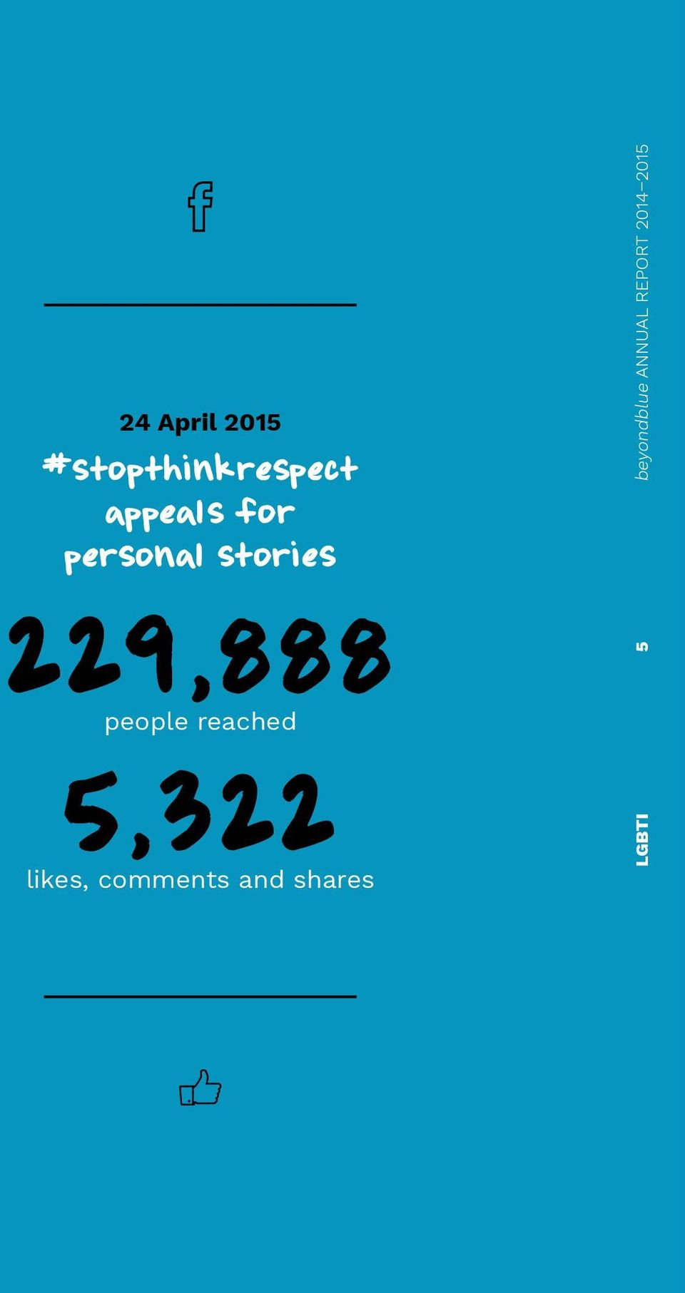 REPORT 2014 2015 229,888 people reached