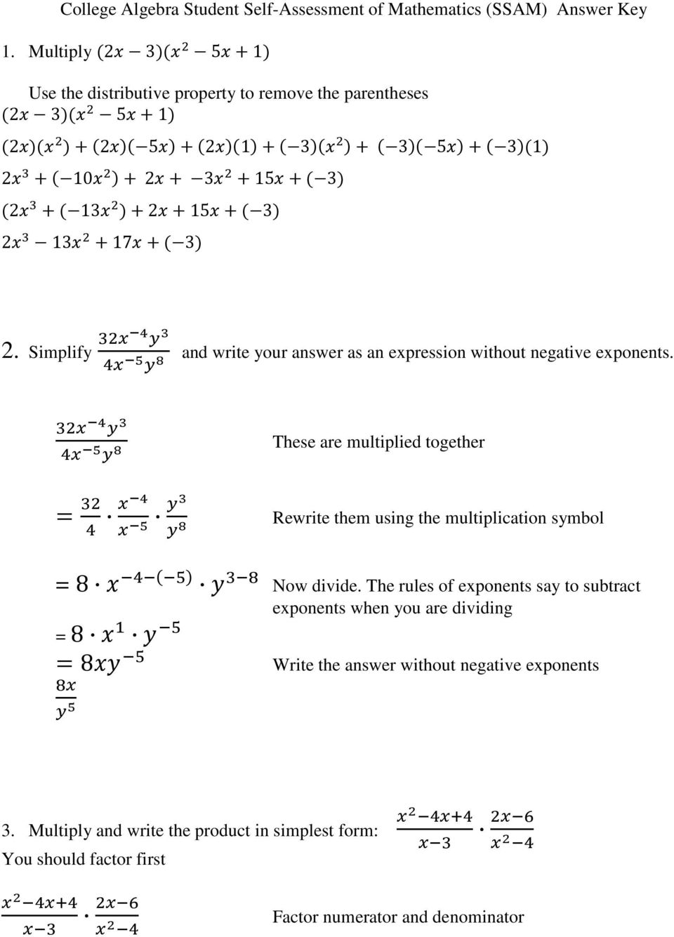 Simplify and write your answer as an expression without negative exponents.