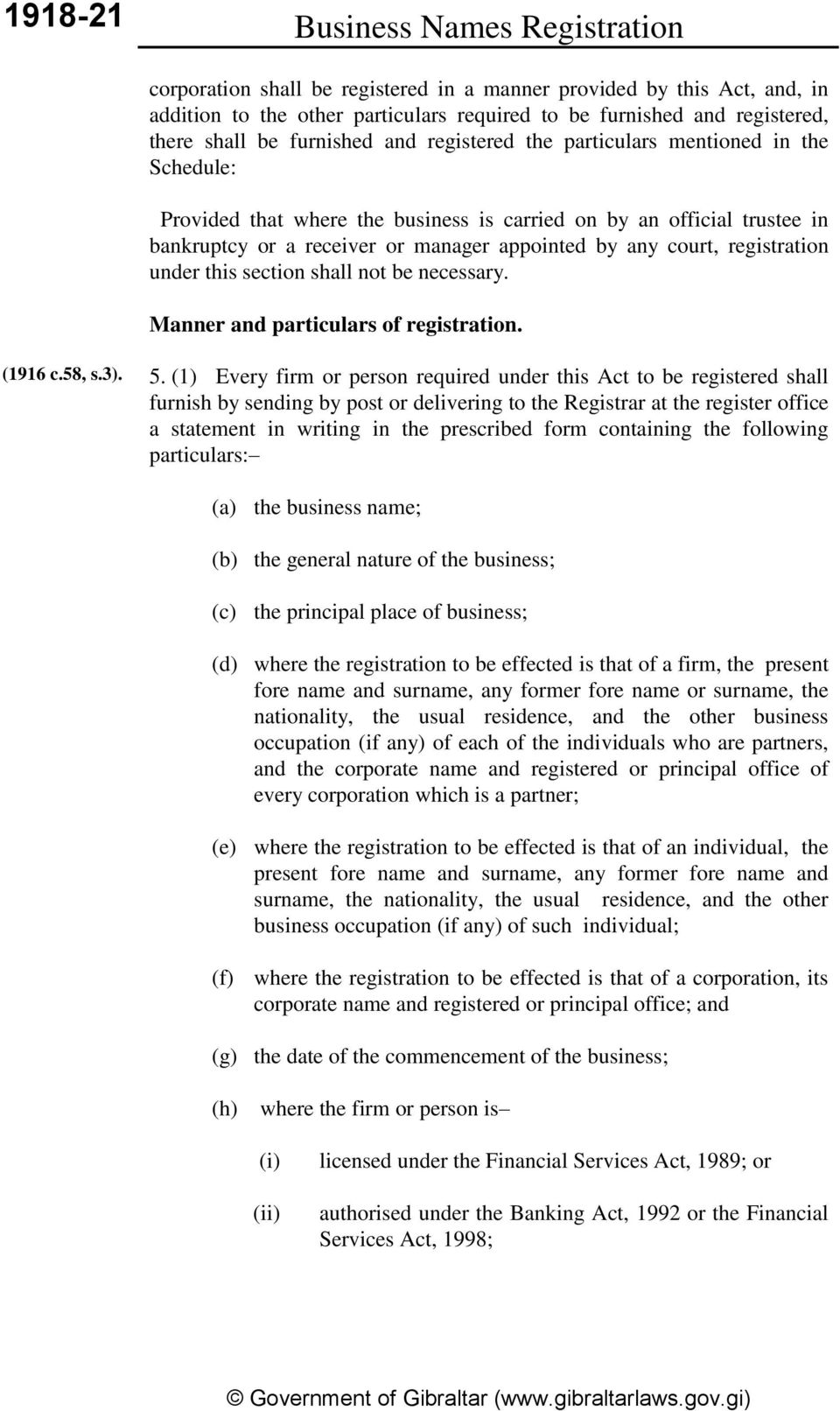 court, registration under this section shall not be necessary. Manner and particulars of registration. (1916 c.58, s.3). 5.