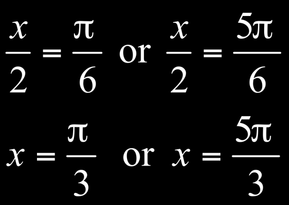 Example of Solving a Trigonometric Equation Using a Half-Angle Identity (Cont.