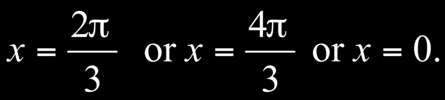 Example of Solving a Trigonometric Equation Using