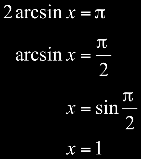 How to Solve an Equation Involving an Inverse Trigonometric Function?