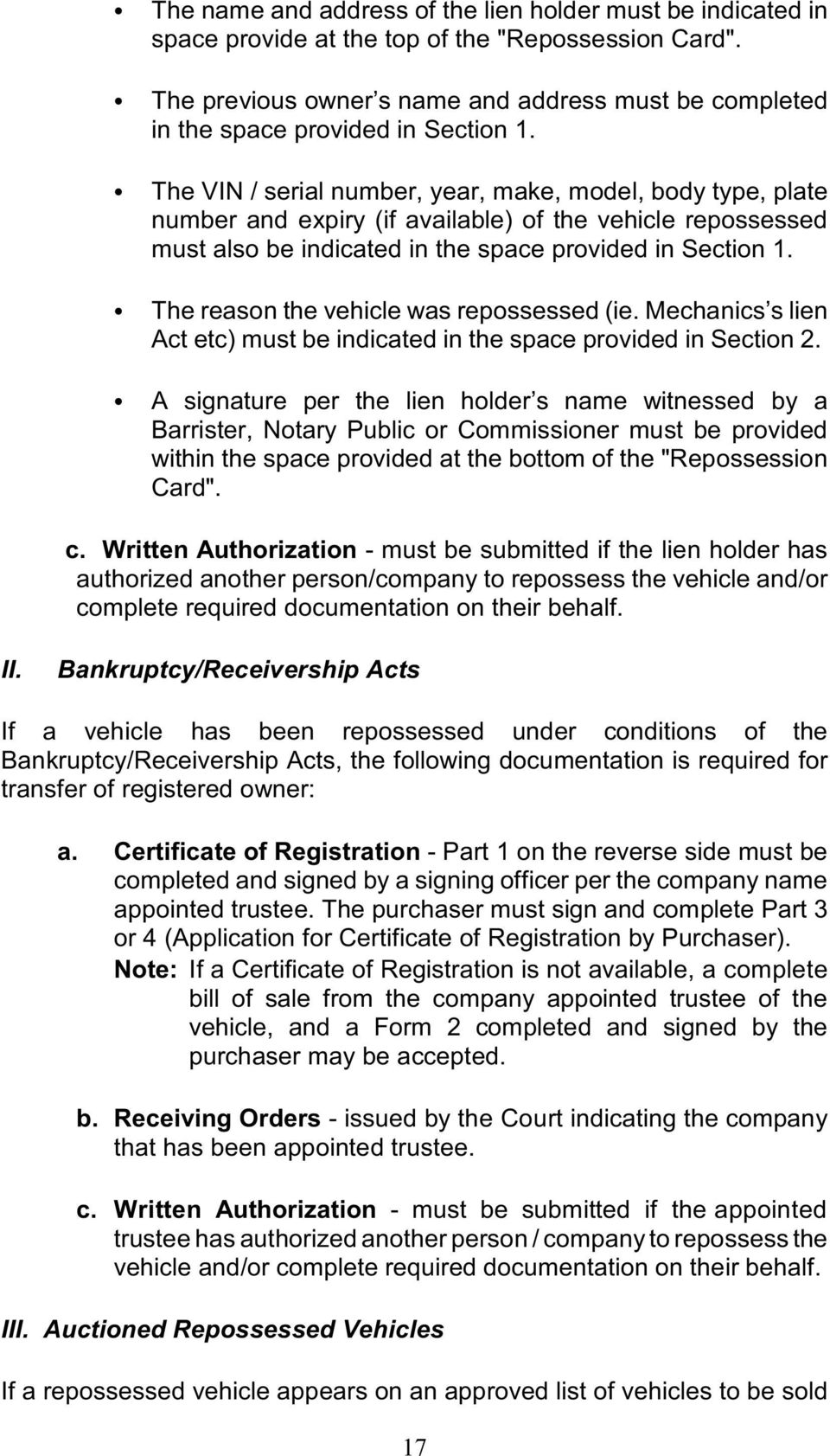 application to transfer the registration of this vehicle form act