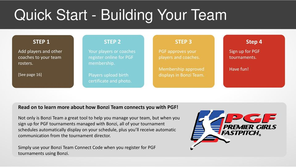 Read on to learn more about how Bonzi Team connects you with PGF!