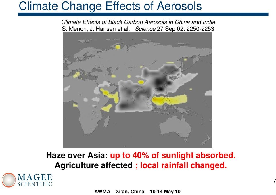 Science 27 Sep 02: 2250-2253 Haze over Asia: up to 40% of