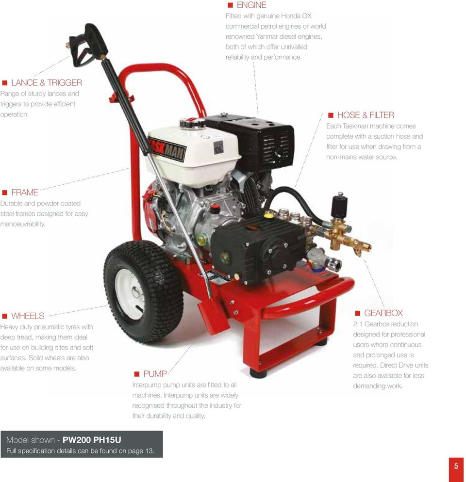 COMMERCIAL PRESSURE WASHERS Professional. Reliable. Robust. - PDF