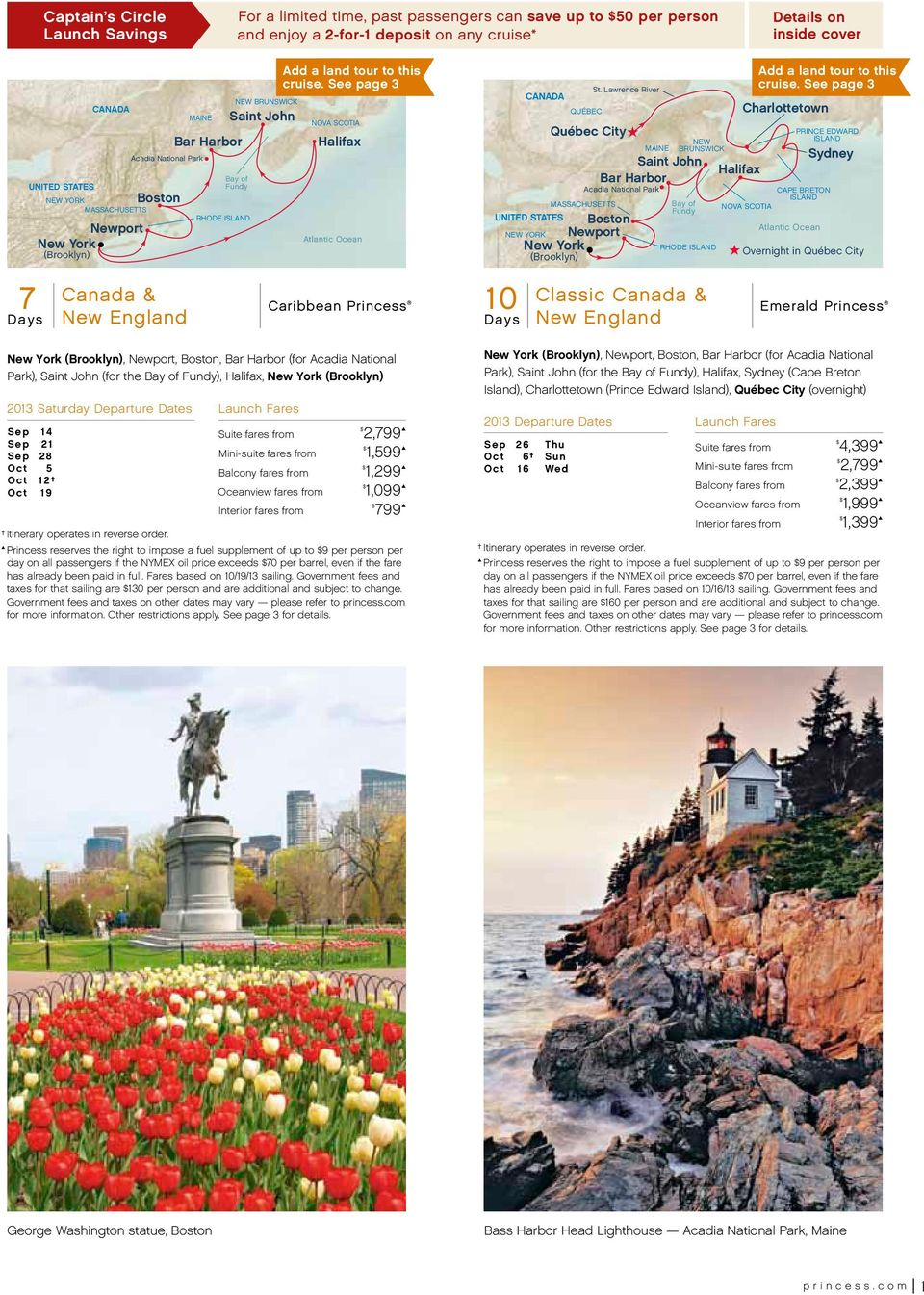 Canada Amp New England September To October 2013 Cruises