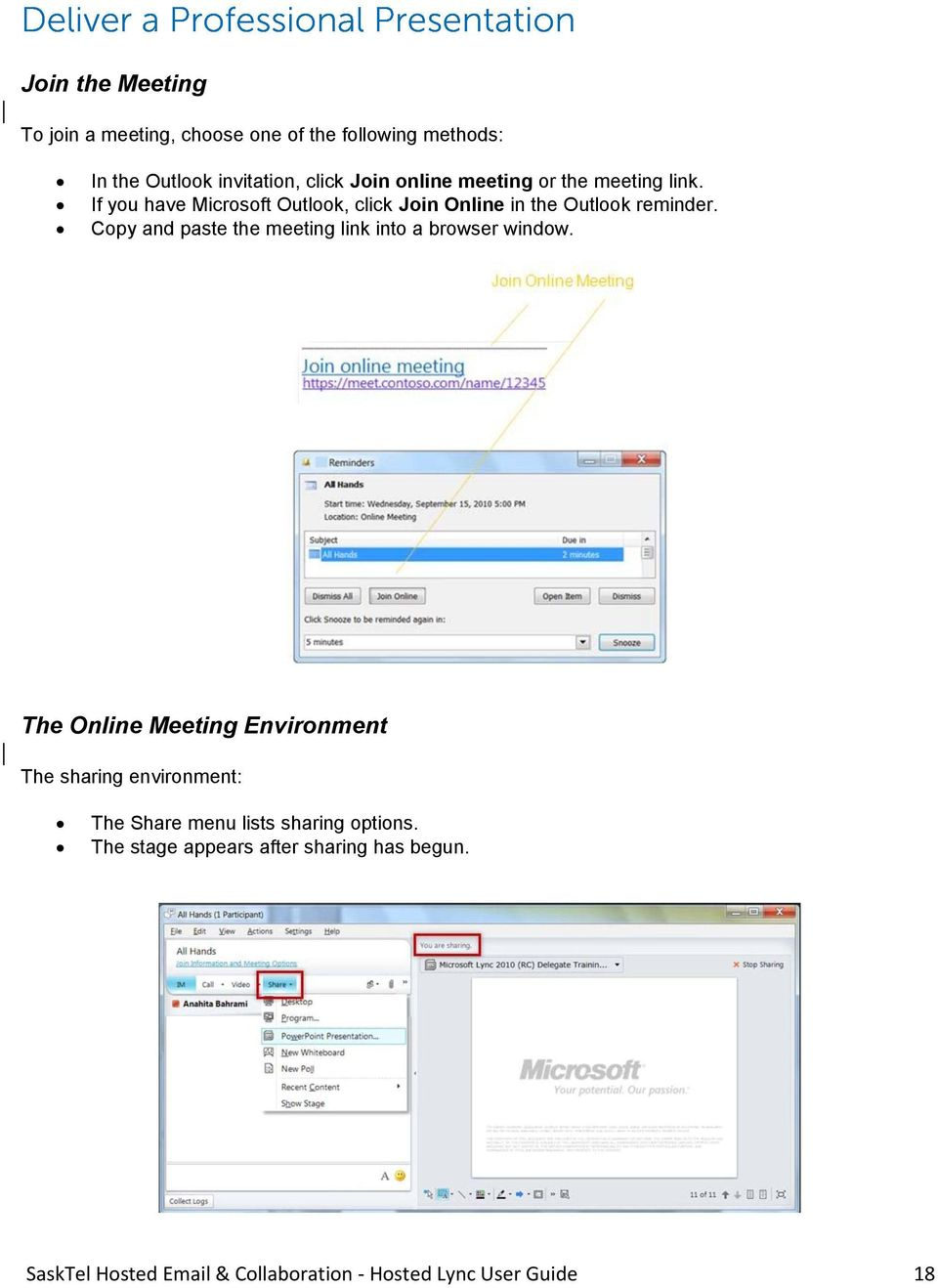 Copy and paste the meeting link into a browser window.