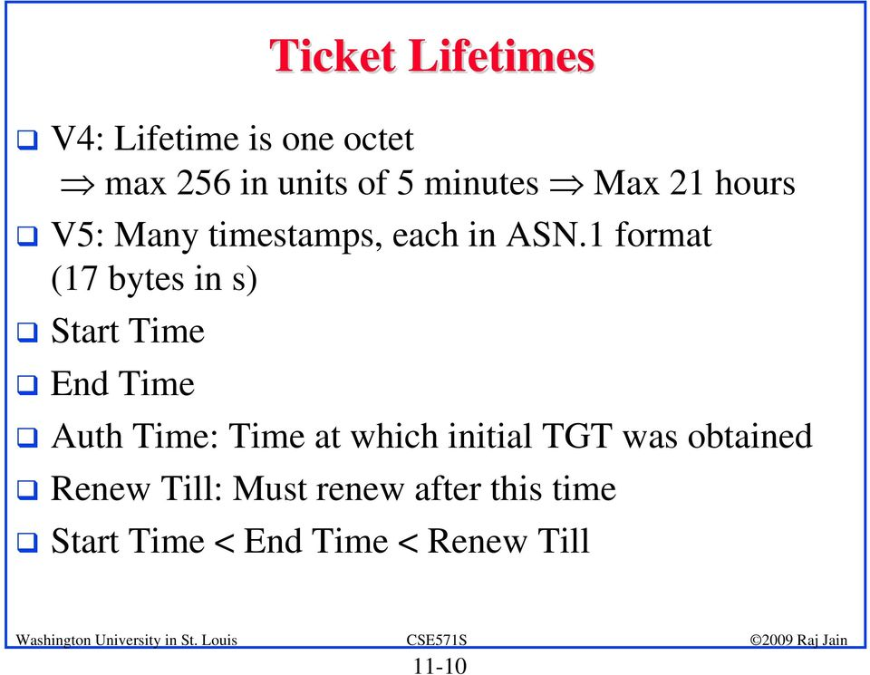 1 format (17 bytes in s) Start Time End Time Auth Time: Time at which