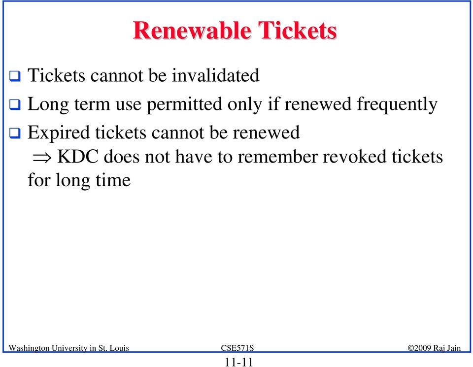 frequently Expired tickets cannot be renewed KDC