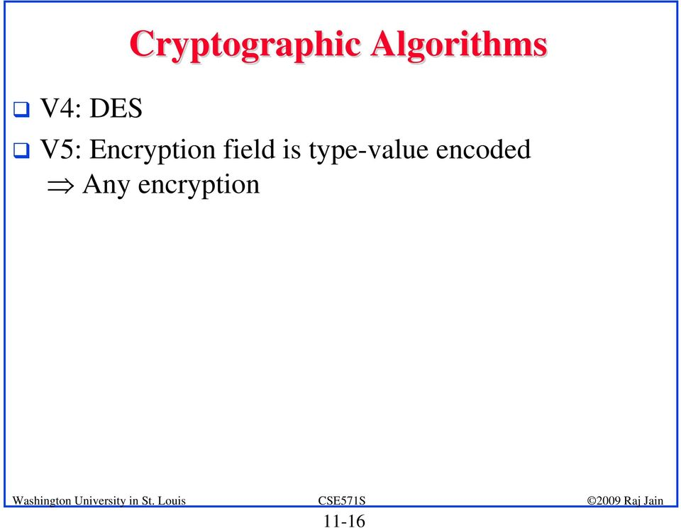 Encryption field is