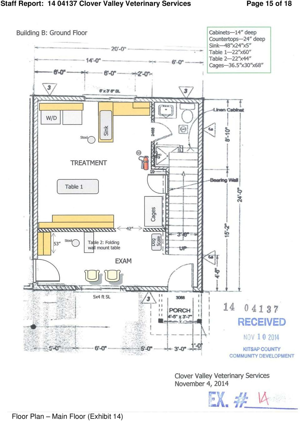Staff report and information for the hearing examiner for Floor plan services