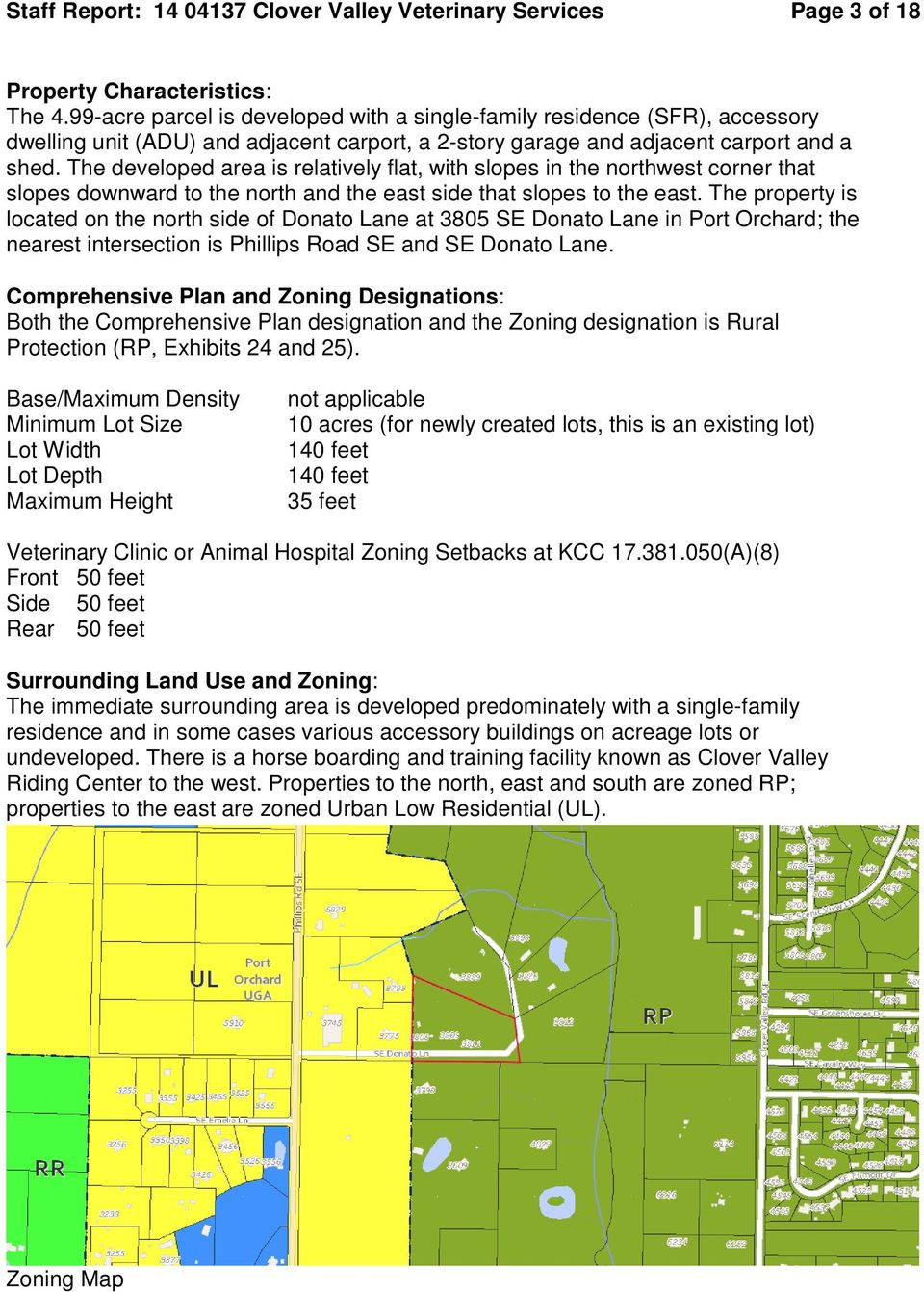 Staff report and information for the hearing examiner for Kitsap septic