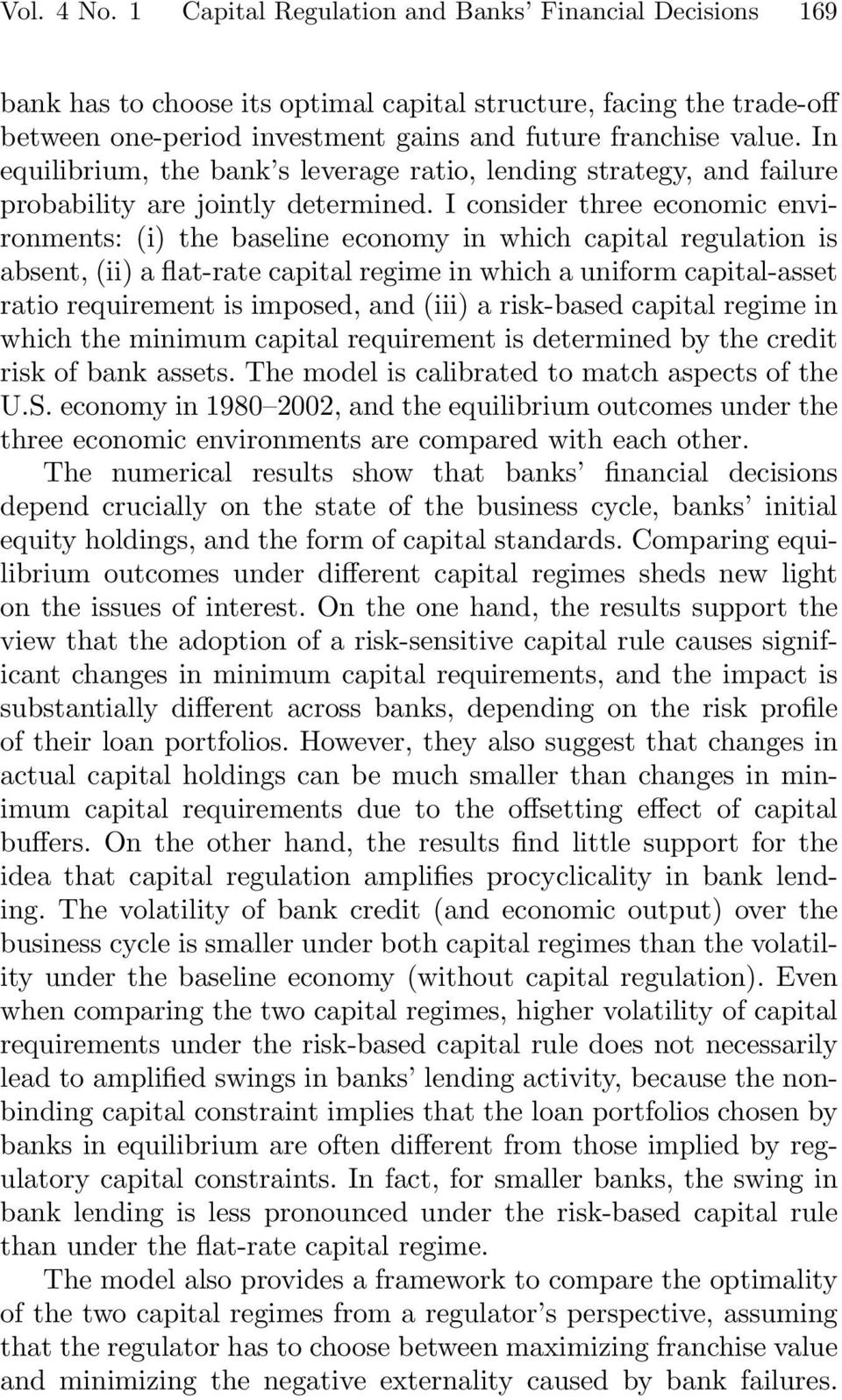 economic and regulatory capital That creates economic opportunities  report to president donald j trump  types and regulatory charters • capital markets: debt, equity, commodities and .