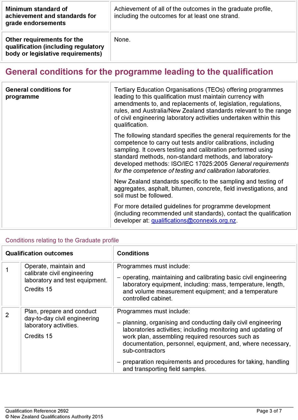 General conditions for the programme leading to the qualification General conditions for programme Tertiary Education Organisations (TEOs) offering programmes leading to this qualification must