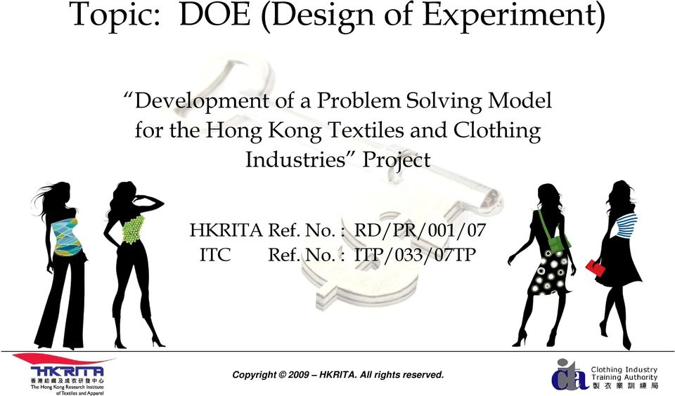 Textiles and Clothing Industries Project HKRITA