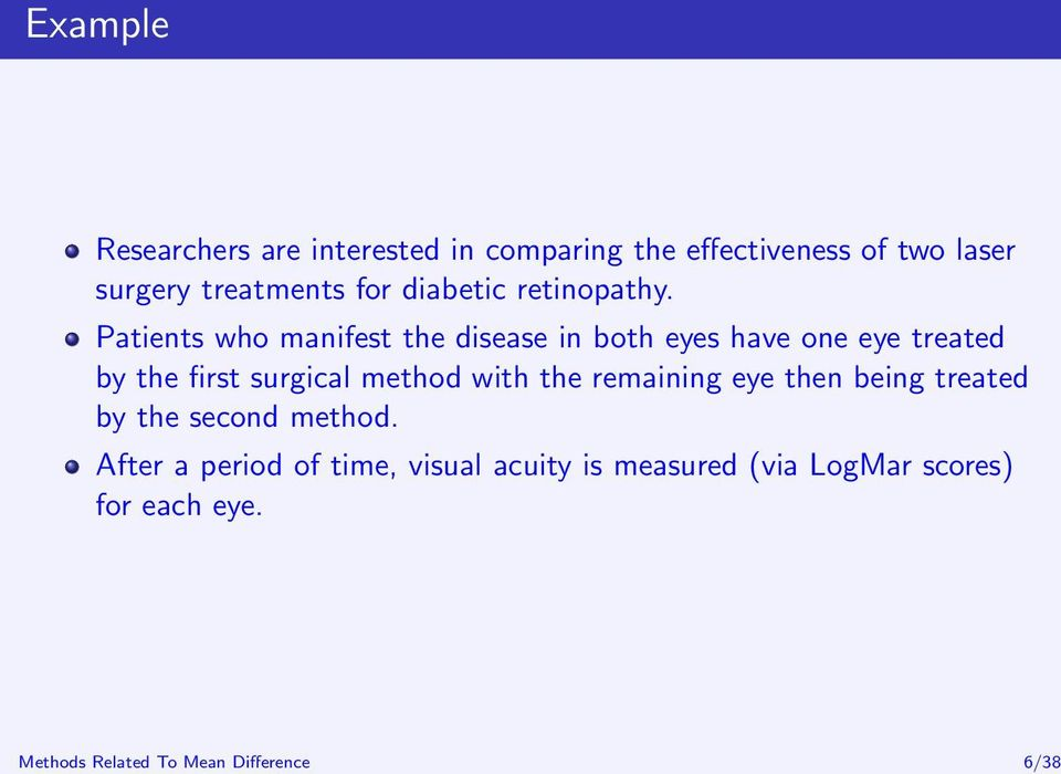 Patients who manifest the disease in both eyes have one eye treated by the first surgical method with