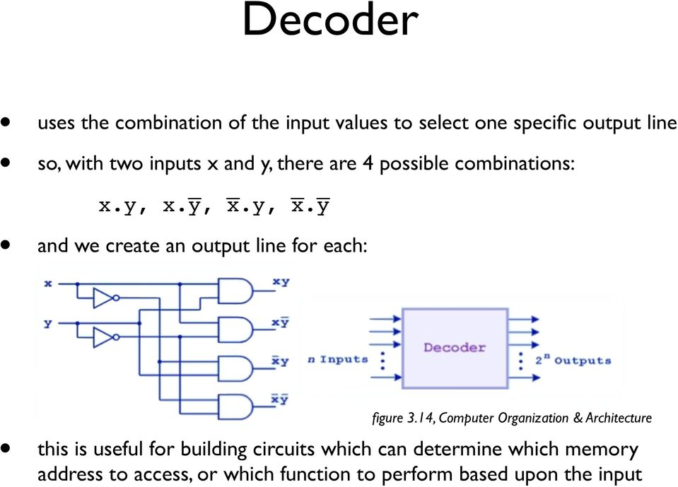 14, Computer Organization & Architecture this is useful for building circuits which can