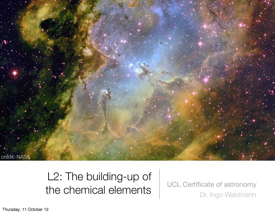 chemical elements UCL