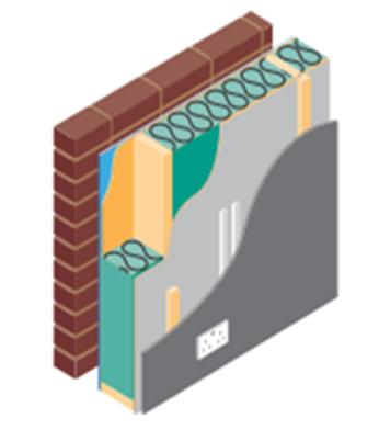 Back ground Solutions IN TIMBER FRAME The Wall C B A D E External wall A) Stud width options B) Breather paper options C) Insulation options- between