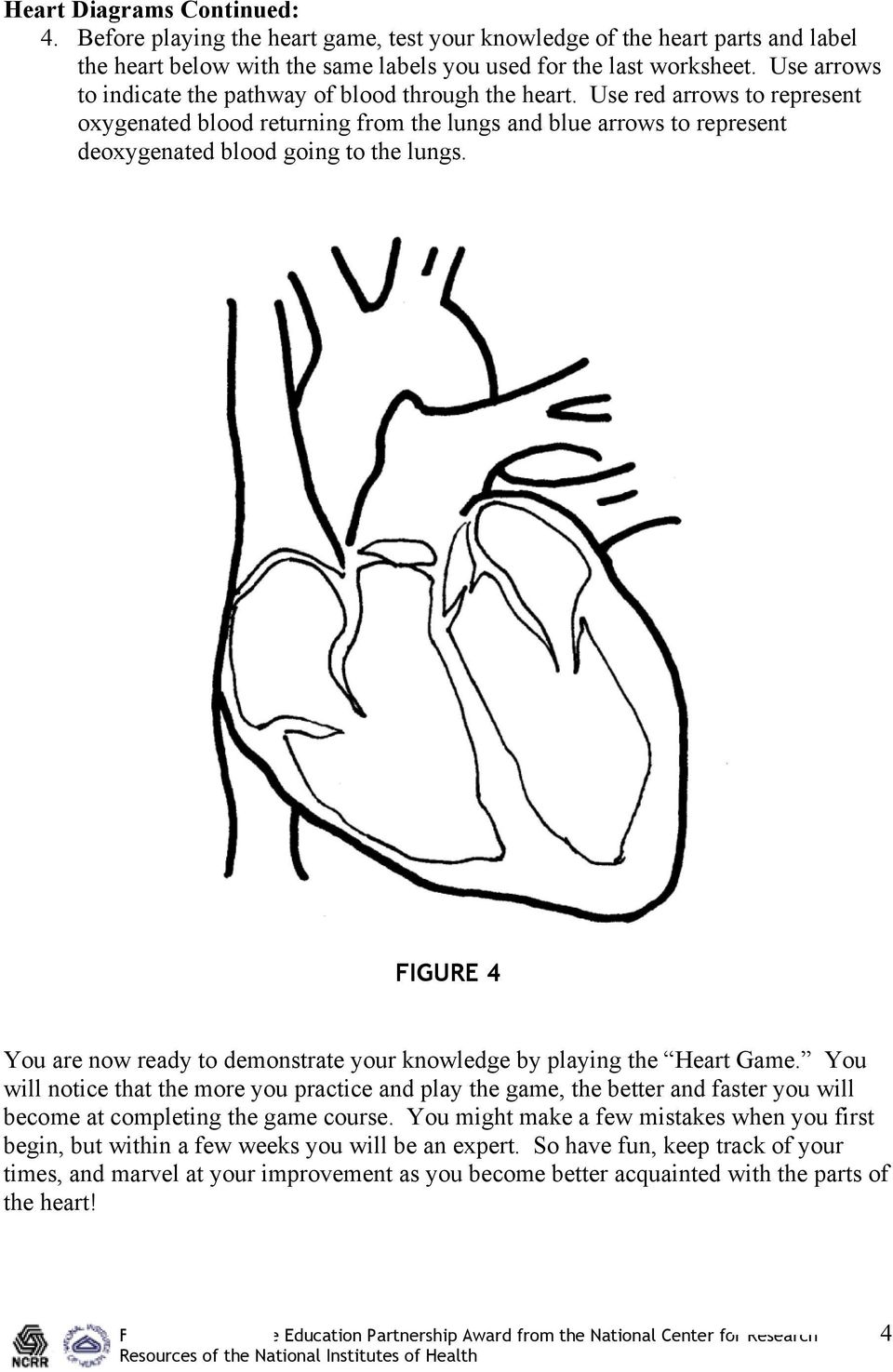 Cardioheads level i the heart and exercise unit introduction the figure 4 you are now ready to demonstrate your knowledge by playing the heart game ccuart Gallery