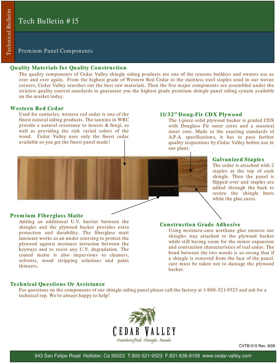 1 Course Overview  Cedar Valley products are perfect for Distinctive