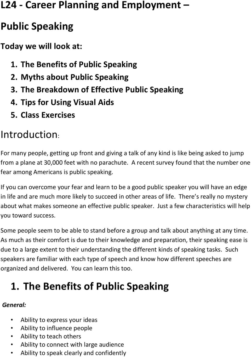 The benefits of public speaking in my life
