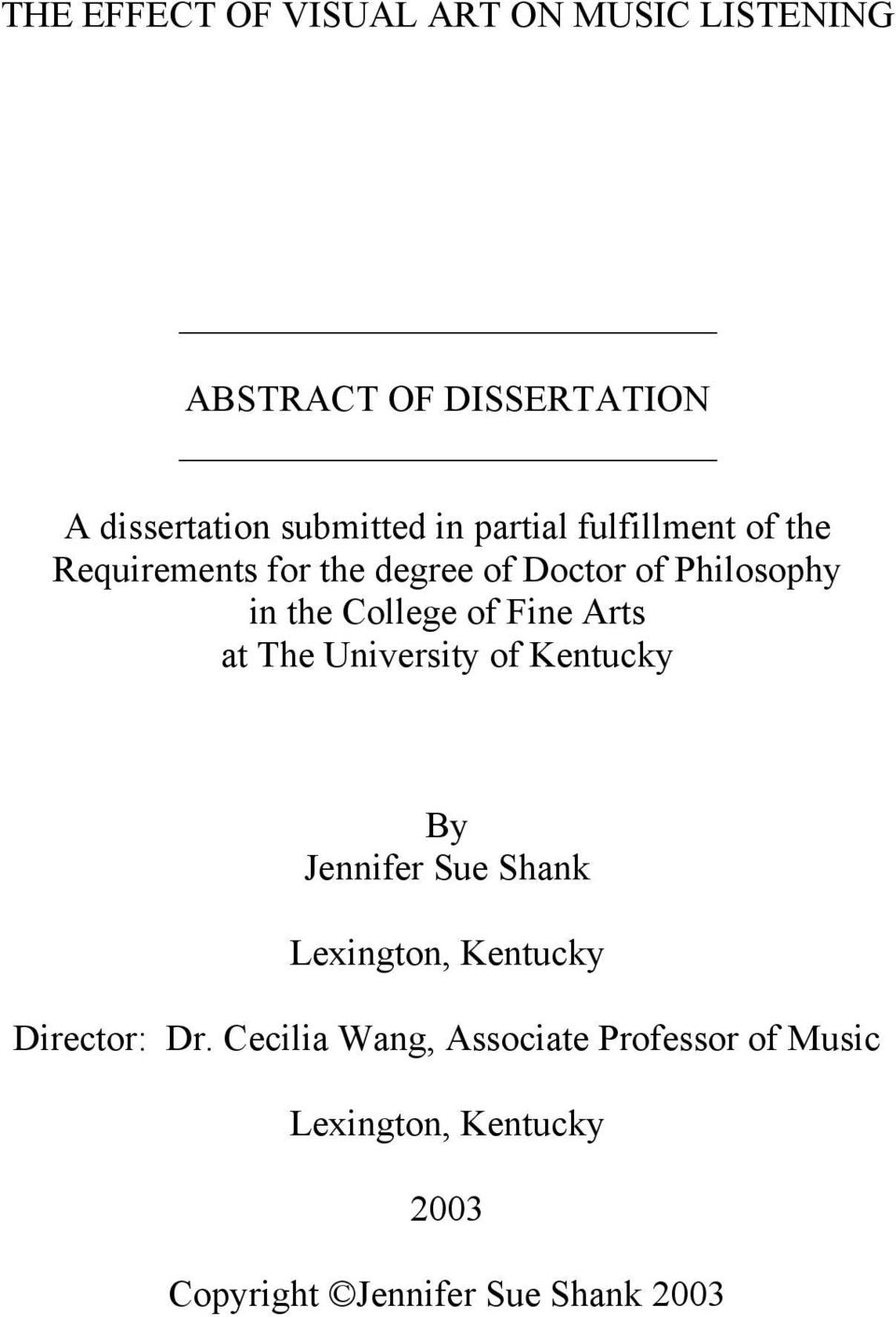 subjects music dissertation