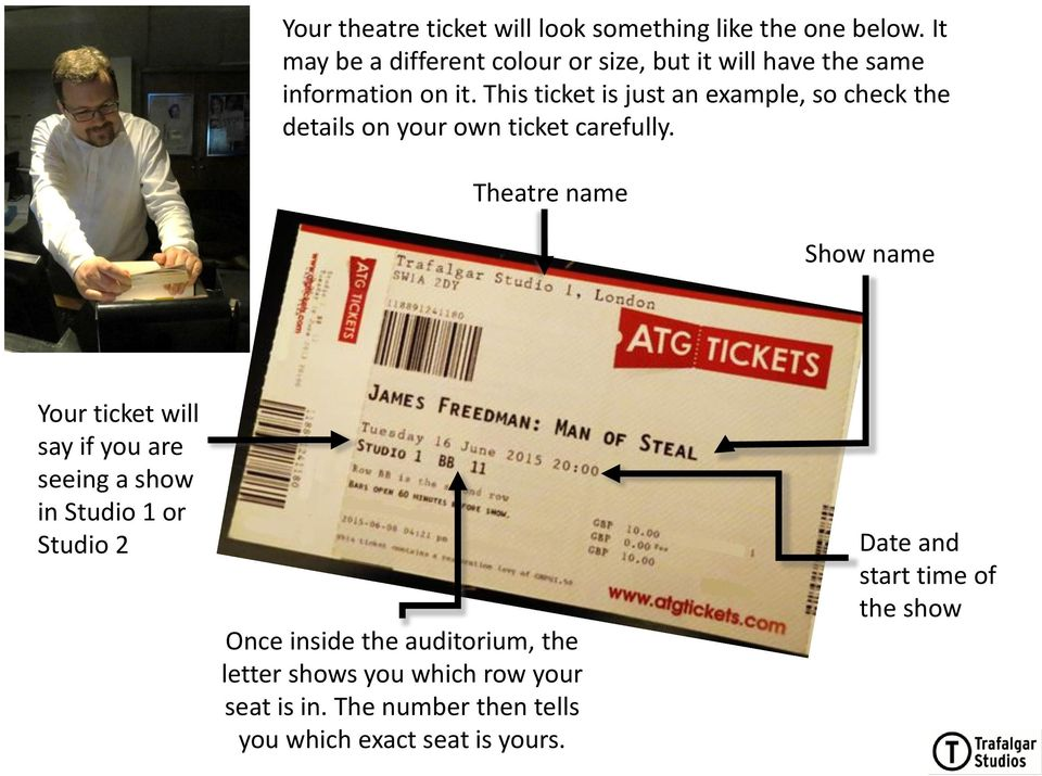 This ticket is just an example, so check the details on your own ticket carefully.