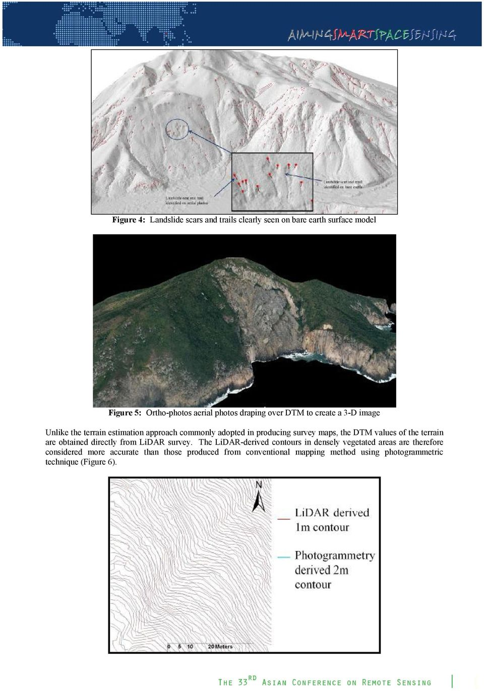 values of the terrain are obtained directly from LiDAR survey.