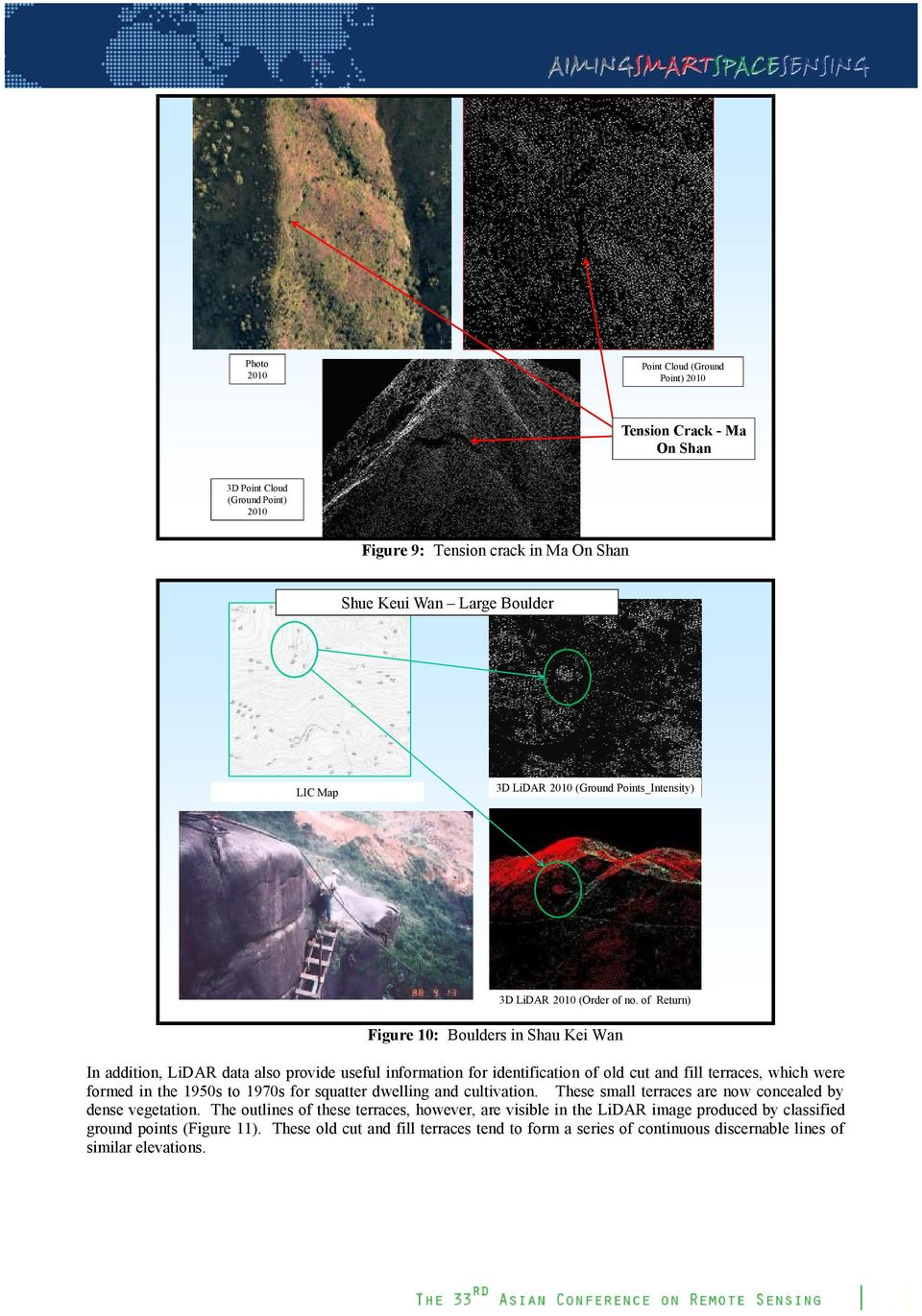 of Return) Figure 10: Boulders in Shau Kei Wan In addition, LiDAR data also provide useful information for identification of old cut and fill terraces, which were formed in the 1950s to 1970s