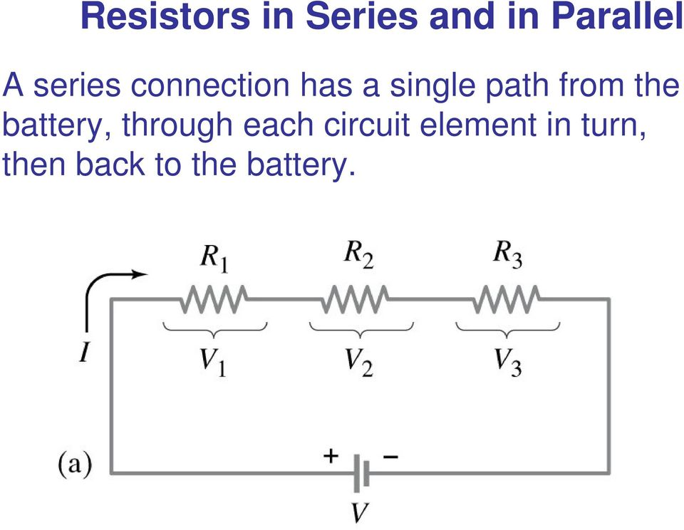 from the battery, through each circuit