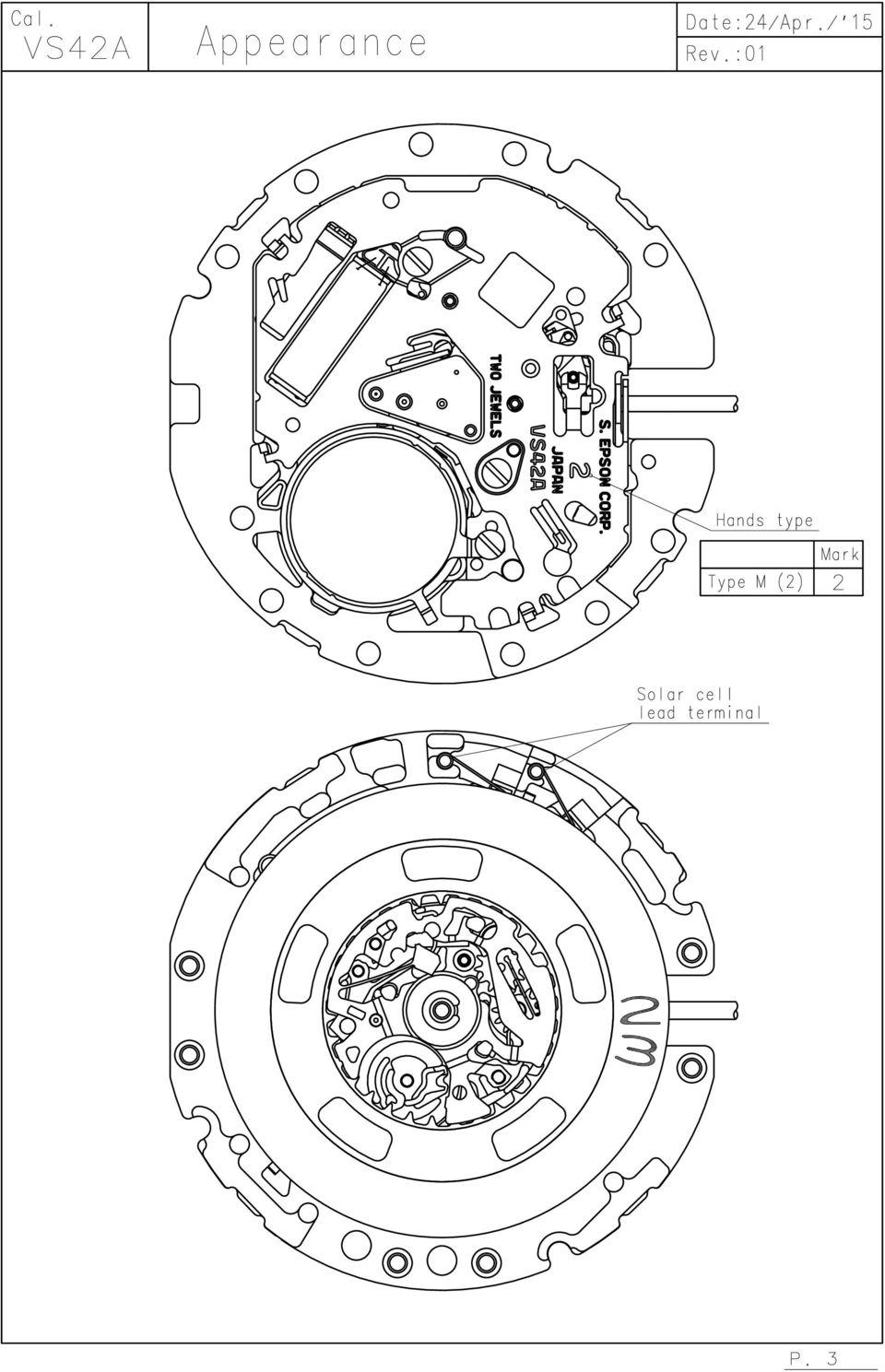 Cal Vs42a Solar Series 11 1 Mm Approx 6 Months 286mm Watch Bendix Ec 30 Wiring Diagram 5