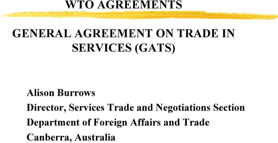 Services Trade and Negotiations Section