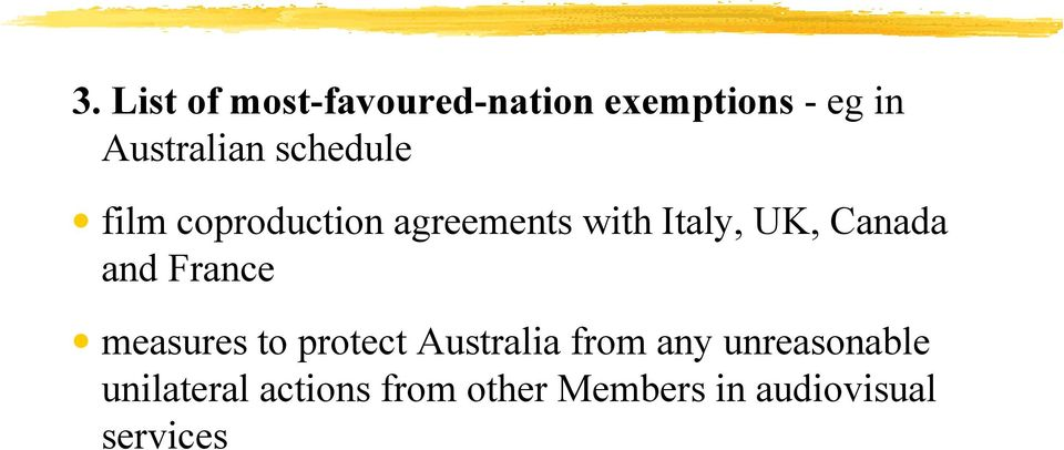 and France measures to protect Australia from any